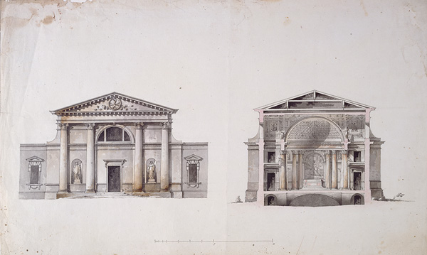 Giacomo Quarenghi (1744–1817). Project of the Maltese Chapel in St. Petersburg